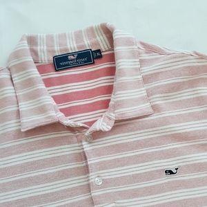 Men's Vineyard Vines Pink Striped Polo